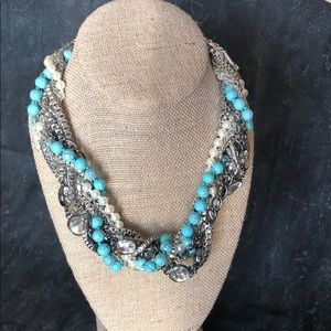 Turquoise Torsad Statement necklace
